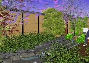 日式庭院景觀設計SU(草圖大師)模型