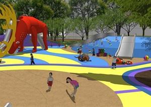 011儿童乐园细致建模,现代风格