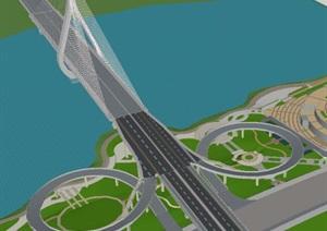 阆中嘉陵江四桥西岸景观设计
