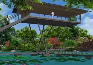 013中心湖区游园景观模型