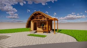 驿站及民俗船型屋展示构筑设计