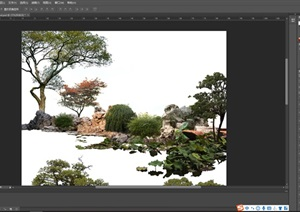园林景观后期制作组景分层素材psd