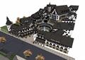 欧式风格详细的小镇商业多层建筑su模型