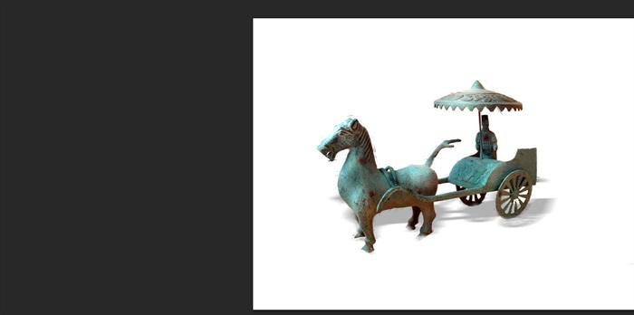 战国时期雕塑素材园林景观后期制作psd[原创]