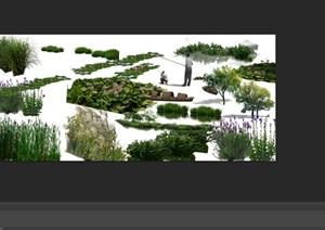 各类水边植物花卉后期制作素材psd
