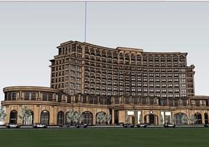 某详细的多层酒店完整设计SU(草图大师)模型