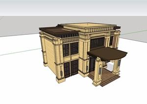 詳細的完整兩層售樓素材設計SU(草圖大師)模型