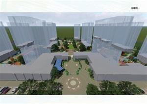 金華二七新村住宅景觀設計模型
