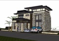 歐式風格詳細的經典多層完整別墅su模型