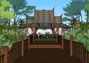 025婚礼岛模型 东南亚 泰式