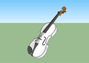 爱情主题小提琴景观雕塑SU(草图大师)模型