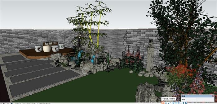 中式庭院景观规划设计植物配置园林小品景观[原创]