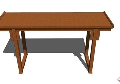 中式风格详细的木质桌子素材设计su模型