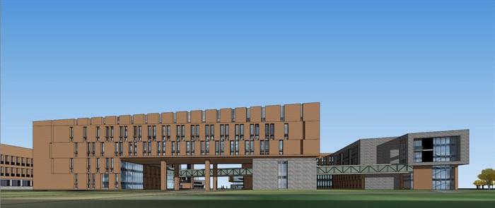 大学材料学院校区建筑设计方案su模型[原创]图片