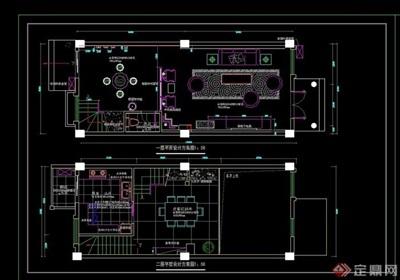 别墅室内空间设计cad施工图