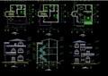 多层详细的别墅详细设计cad施工图