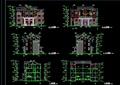 中式双拼别墅详细设计cad施工图