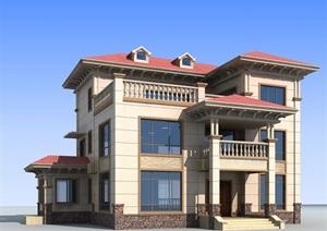 乡村别墅设计包含效果图 施工图
