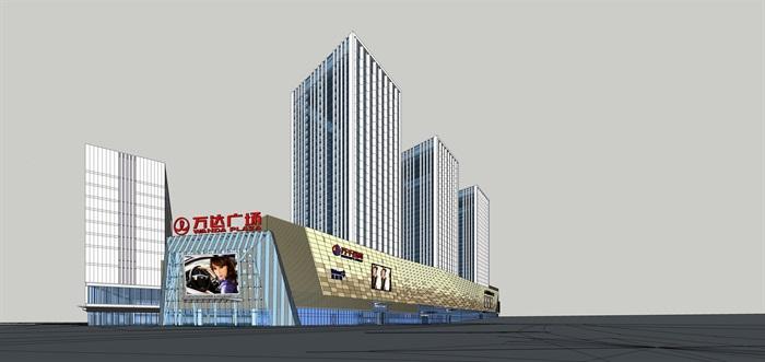 36.办公酒店现代高层塔式办公+商业综合体CAD+SU+效果图+PPT(1)