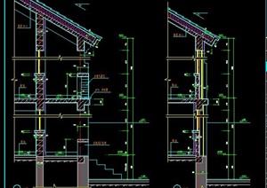 二层中式别墅墙体节点图纸