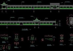 古建长廊建筑cad施工图