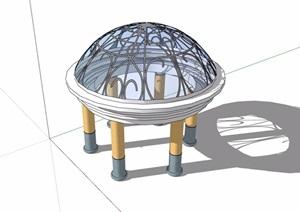 园林景观亭子素材设计SU(草图大师)模型