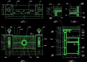 商業空間服務臺設計圖紙