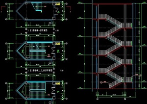 5层建筑楼梯设计图纸