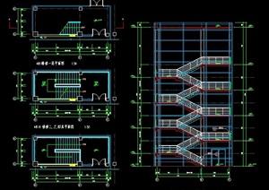 五层建筑楼梯设计图纸