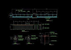 木质详细的亭廊组合素材cad施工图