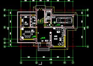 私人别墅施工图1,二层别墅