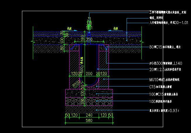 排水沟做法详图(2)