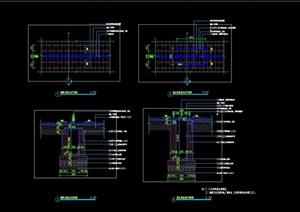 缝隙式排水沟线性排水沟及检修口做法施工图详图