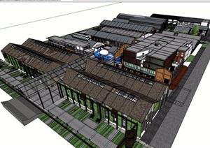 某详细的文化电影剧场建筑设计SU(草图大师)模型