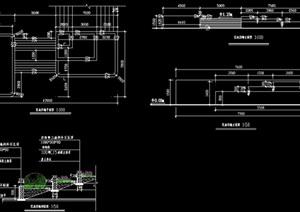 花池擋土墻詳細設計cad施工圖