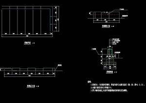 現代擋墻詳細完整詳細設計cad施工圖