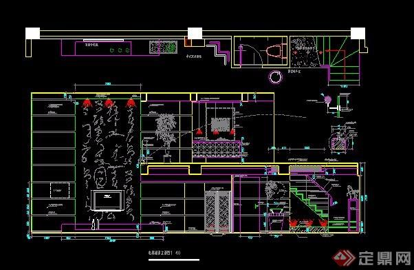 中式風格復式別墅住宅裝修施工圖