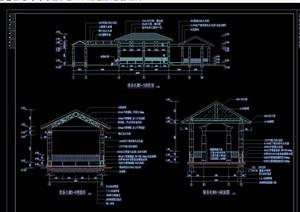 联系长廊详细完整设计cad施工图