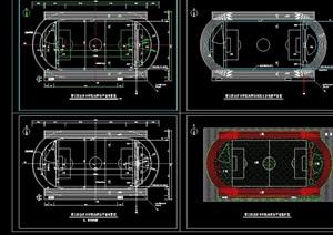 学校体育场设计cad施工图