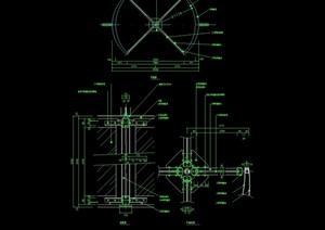 某建筑旋转门素材cad施工图