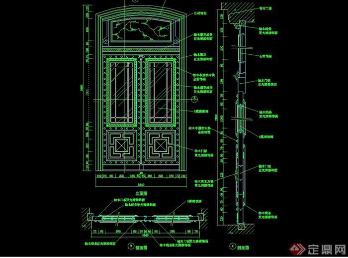 詳細的完整門窗素材設計cad施工圖