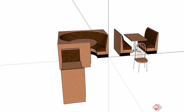 詳細的完整餐桌椅素材設計su模型