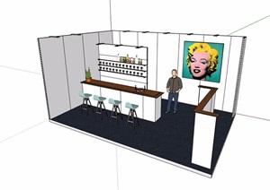 详细的售卖展厅素材设计SU(草图大师)模型