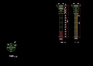 现代景观灯柱设计cad方案