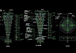 现代详细景观灯柱完整素材cad施工图