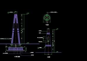 某详细完整景观灯柱cad施工图