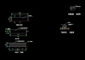 详细的半圆景观灯柱设计cad施工图