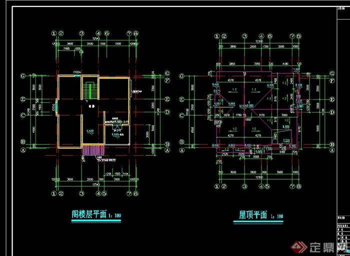 上海某別墅建筑cad施工圖