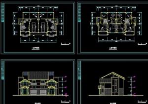 中式别墅住宅cad方案图