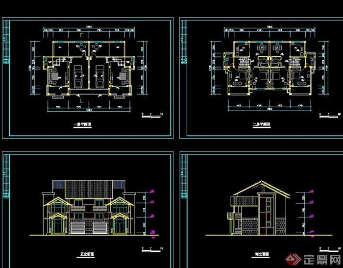 中式別墅住宅cad方案圖